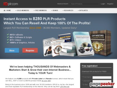 No.1 PLR Membership With 6347 PLR Products!
