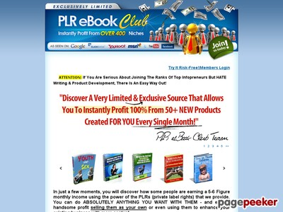 PLR eBook Club – 11500+ Private Label Rights eBooks, Articles, Products, Resell Rights
