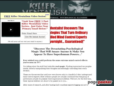 Killer Mentalism .::. Amazing Psychological Mind Control Tricks