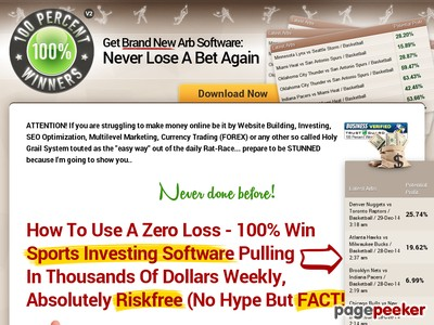 100%Winners || Automatic Sports Investing Software and Picks