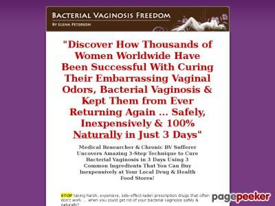 Bacterial Vaginosis Freedom    Permanent Relief NOW!