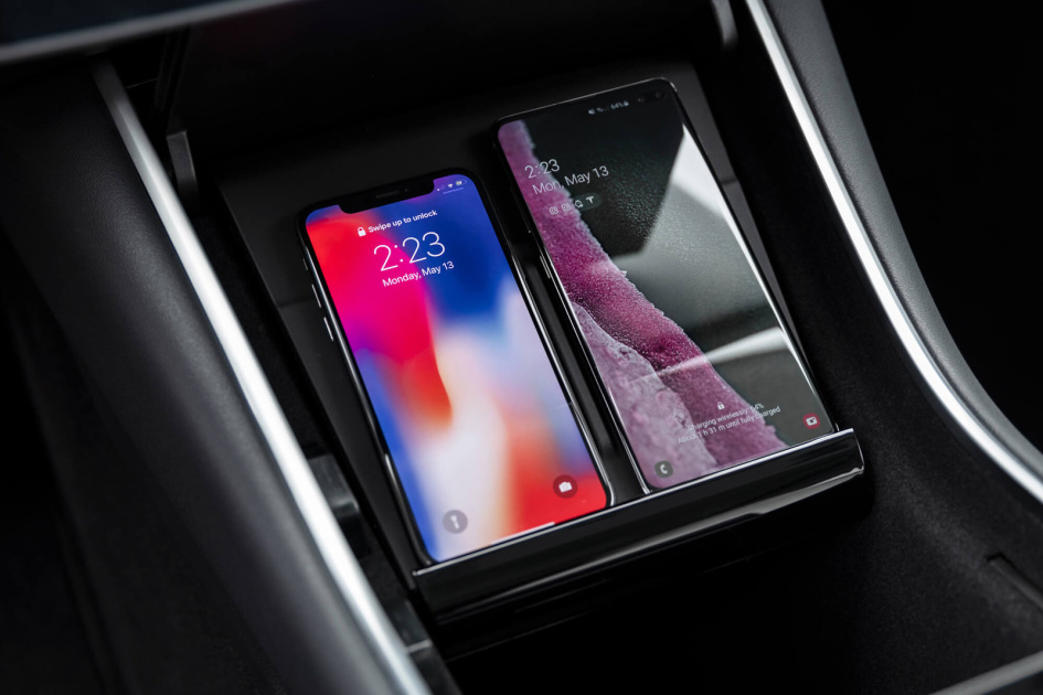 Tesla's US-made Model 3 now has standard wireless phone charging